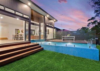Timber Decking & Stunning Steps Coming Down From A Beautifully Renovated Home - Home Renovations Illawarra - Builders Illawarra
