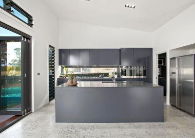 Huge Modern Grey Kitchen - Builders Illawarra