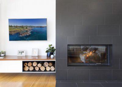 Stunning, Modern Design, FirePlace & Fire Wood Rack - New Home Builders Illawarra - Builders Illawarra