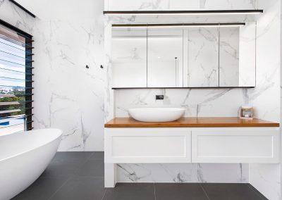 Crisp White Spacious Luxurious New Bathroom With Vanity - New Home Builders Illawarra - Builders Illawarra