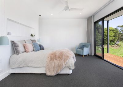 Gorgeous New Bedroom With Large Glass Doors To Patio - New Home Builders Illawarra - Builders Illawarra