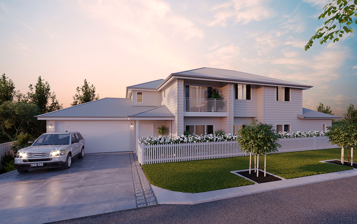 Beautiful Two Story White Home - Builders Illawarra