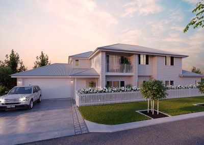 Front View Of A New Modern Home - New Home Builders Illawarra - Builders Illawarra