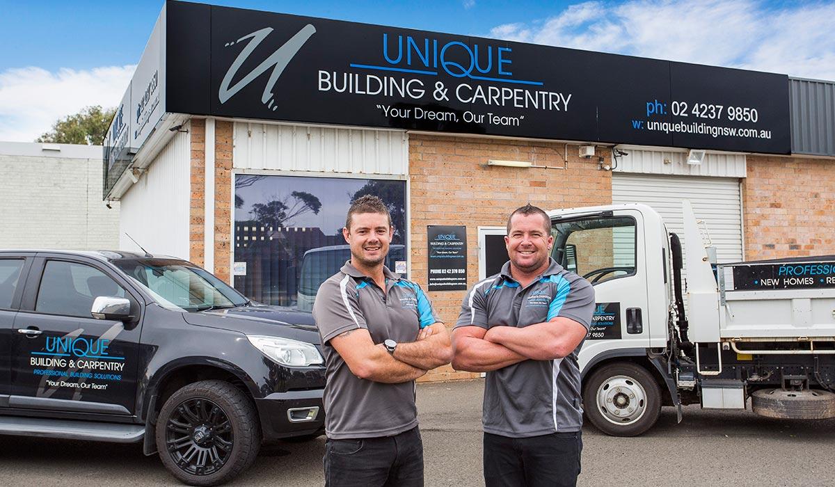 Troy & Jason - Directors Of Unique Building & Carpentry - Commercial Builders Illawarra