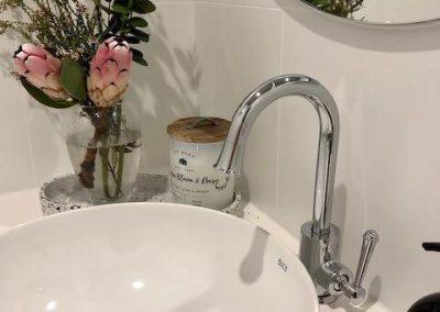 Modern Round Bathroom Sink - Builders Illawarra